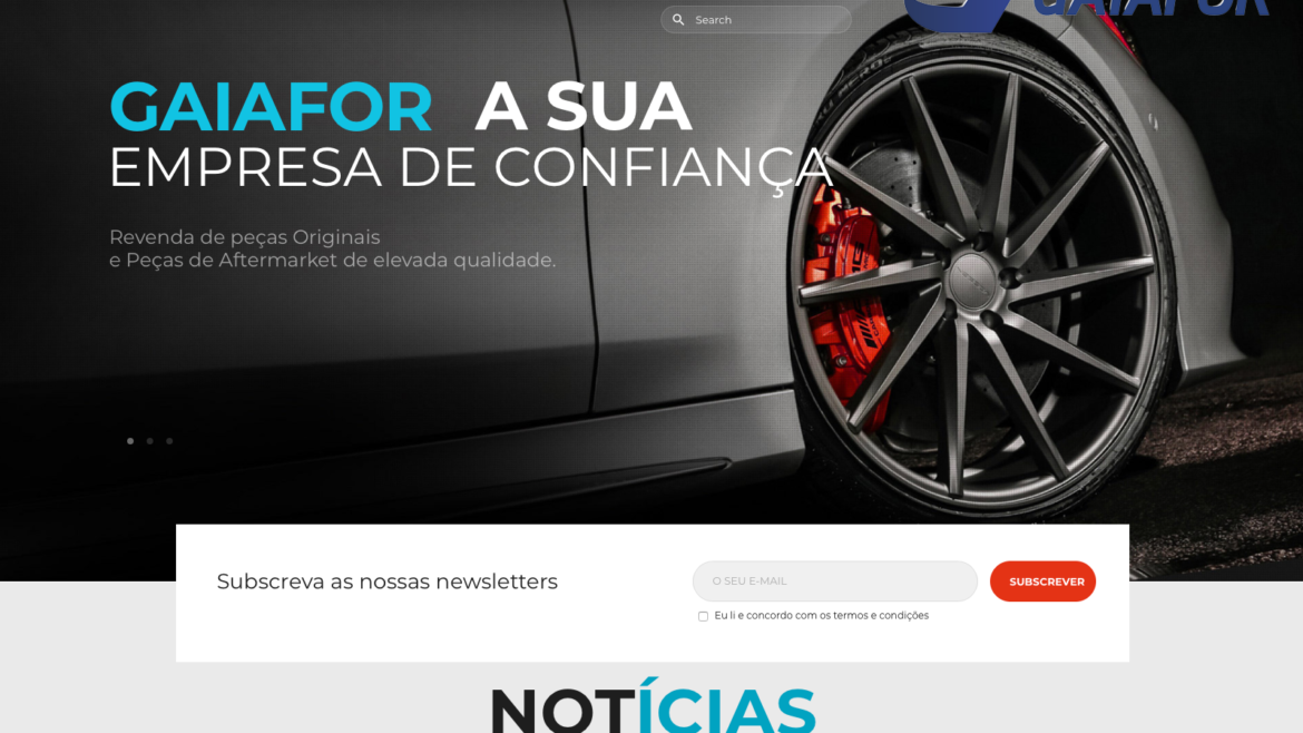 Gaiafor novo website