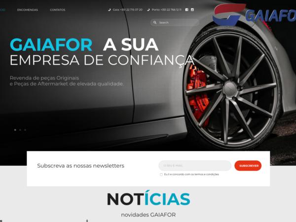 Gaiafor novo website